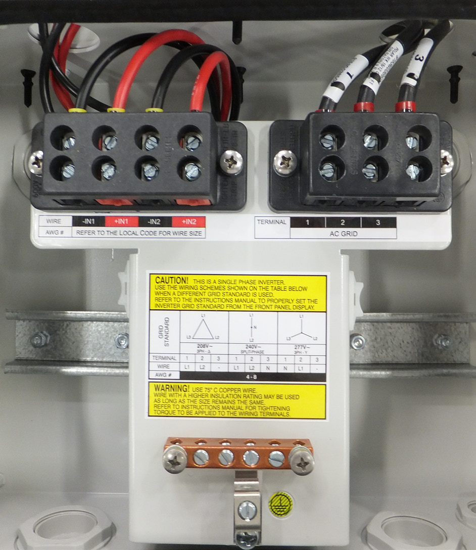 Abb Solar Inverters Product Manual Pvi Tl Outd S Us A 30 To Ac Wiring Size 3 Mounting And Grid Is Connected Through The Inverter Switchbox Run
