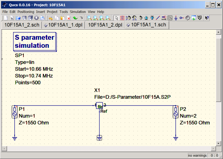 Example: Simple two port measurements and their