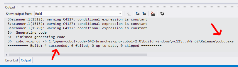 Compiling GnuCOBOL with MS Visual Studio 2012 Express Edition - PDF