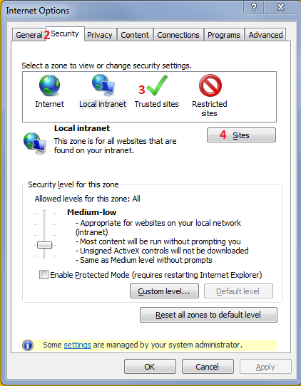 recomended settings for your browser to avoid problems using intraship because of various browserfirewall