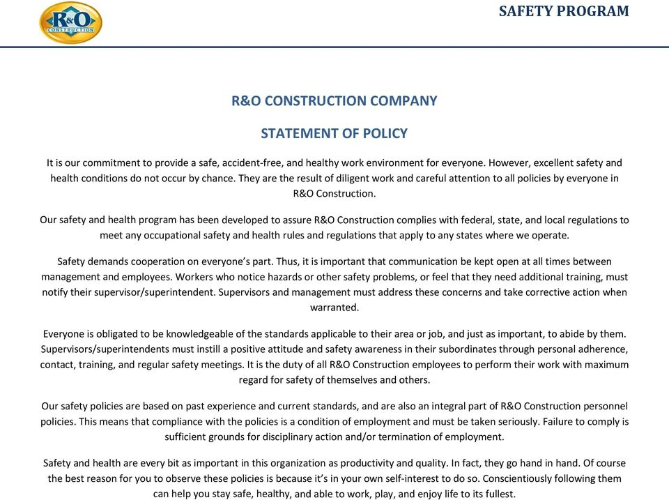introduction to occupational health and safety pdf