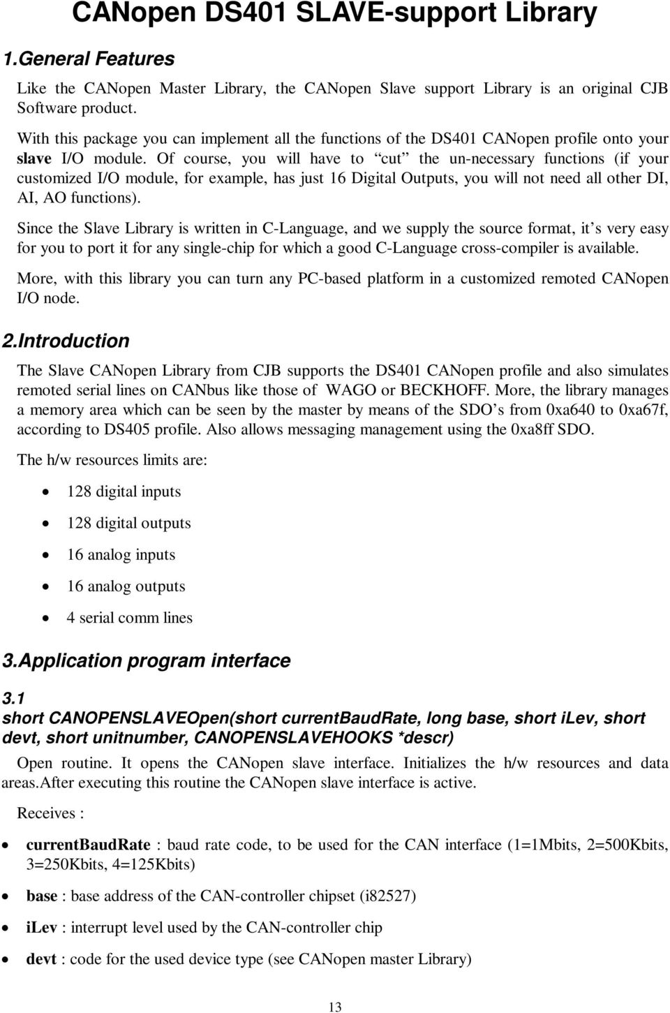 CANopen Library DS401 & DS402 - PDF
