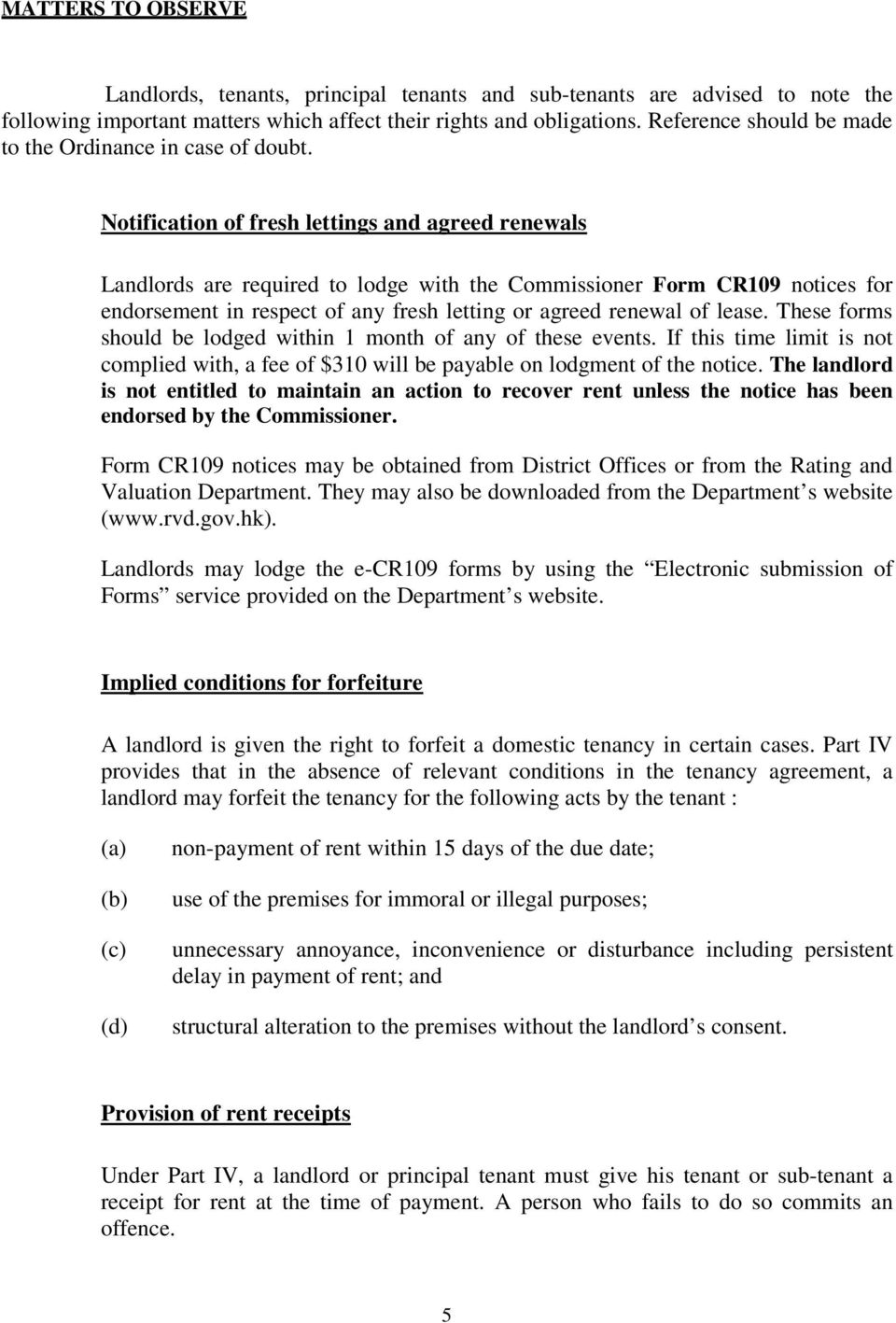 A Summary Guide The Landlord Tenant Consolidation Ordinance Pdf