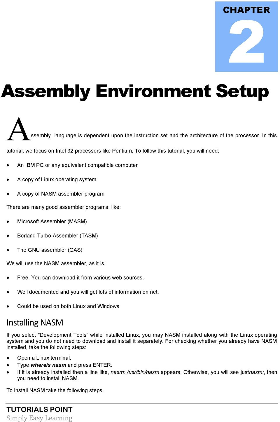 Assembly Language Tutorial - PDF