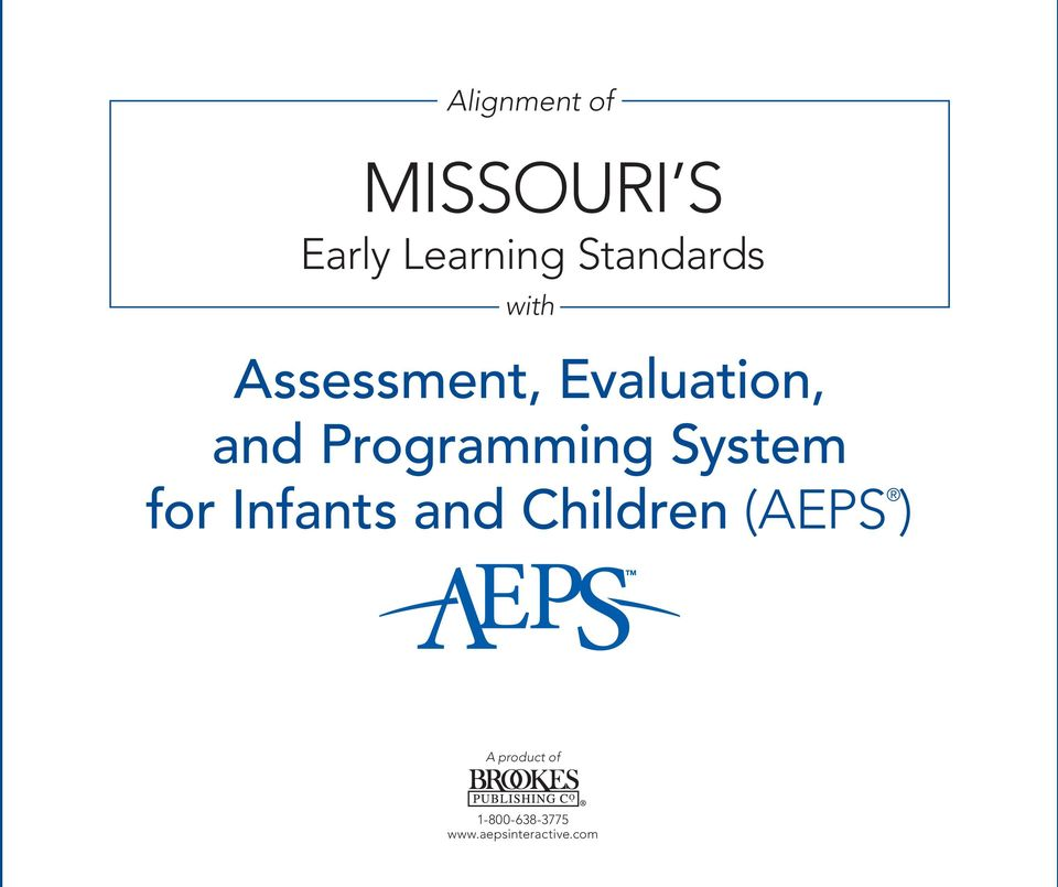 MISSOURI S Early Learning Standards PDF