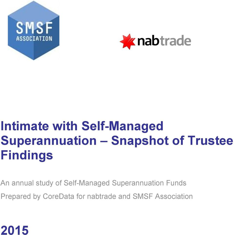 of Self-Managed Superannuation Funds Prepared
