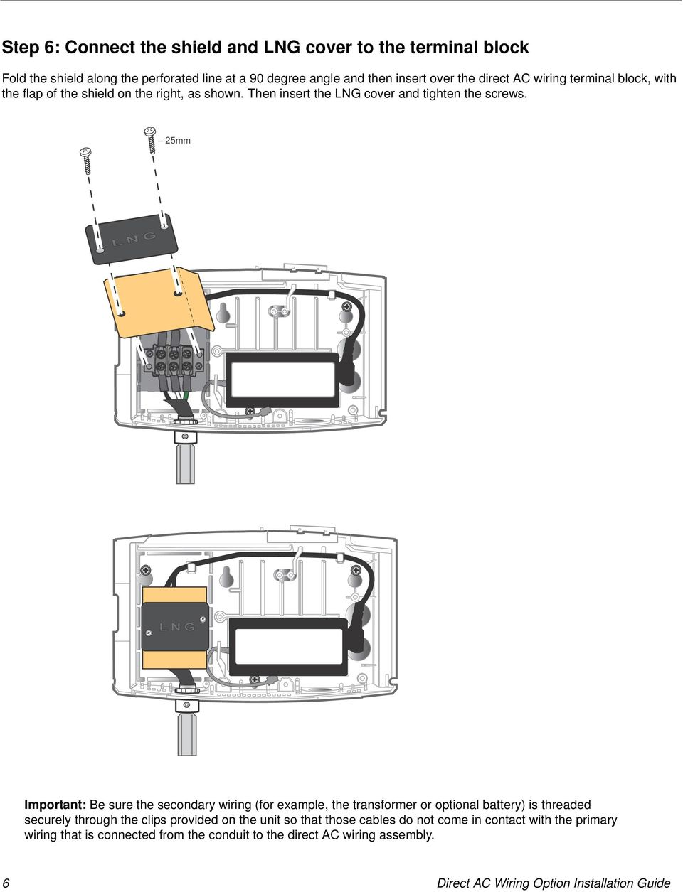 Direct Ac Wiring Option Installation Guide Pdf Transformer 25mm Important Be Sure The Secondary For Example Or Optional