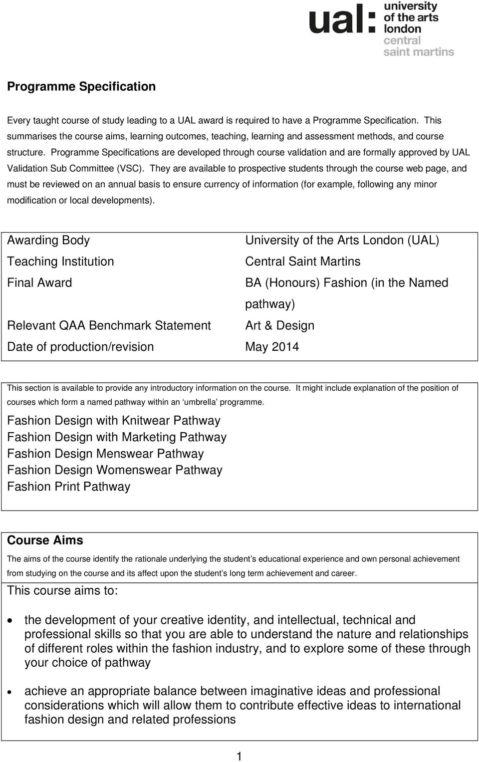 University Of The Arts London Ual Pdf Free Download