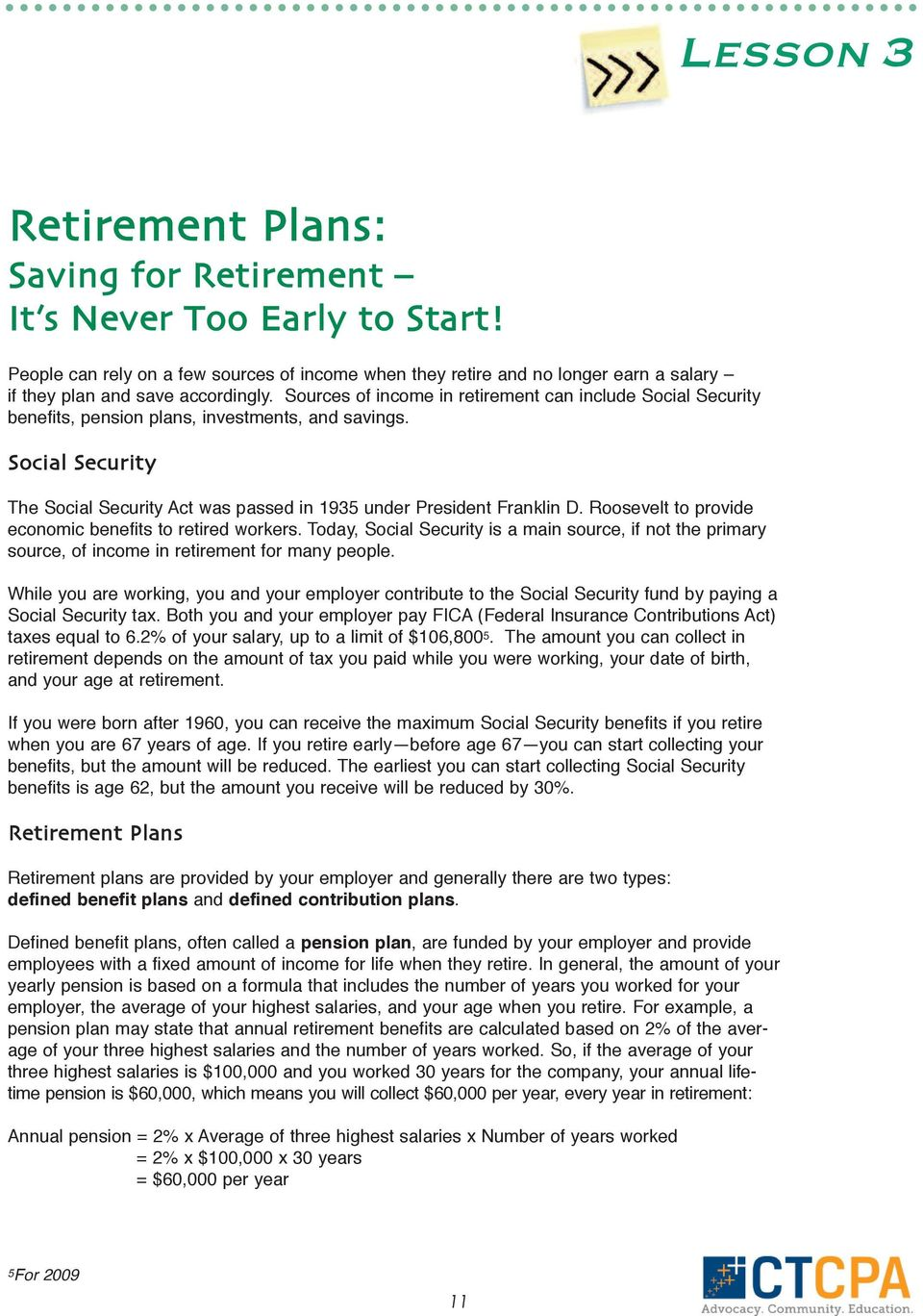 Financial Planning  Introduction  Learning Objectives - PDF
