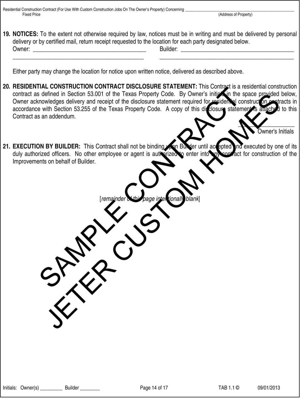 RESIDENTIAL CONSTRUCTION CONTRACT FIXED PRICE - PDF