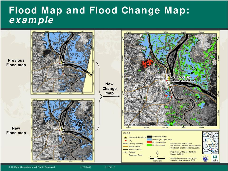 Previous Flood map New