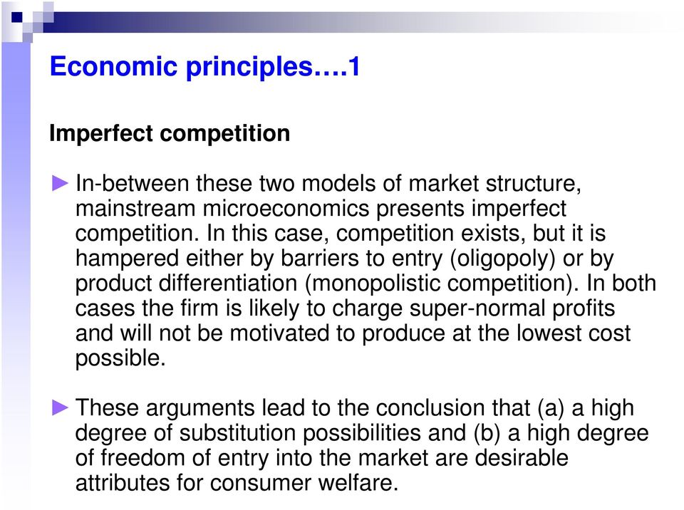 conclusion of market structure