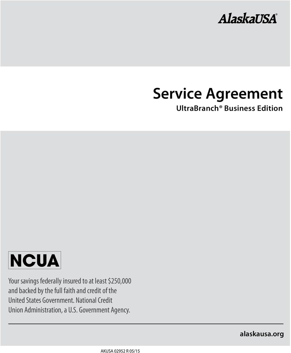service agreement. ultrabranch business edition. alaskausa akusa