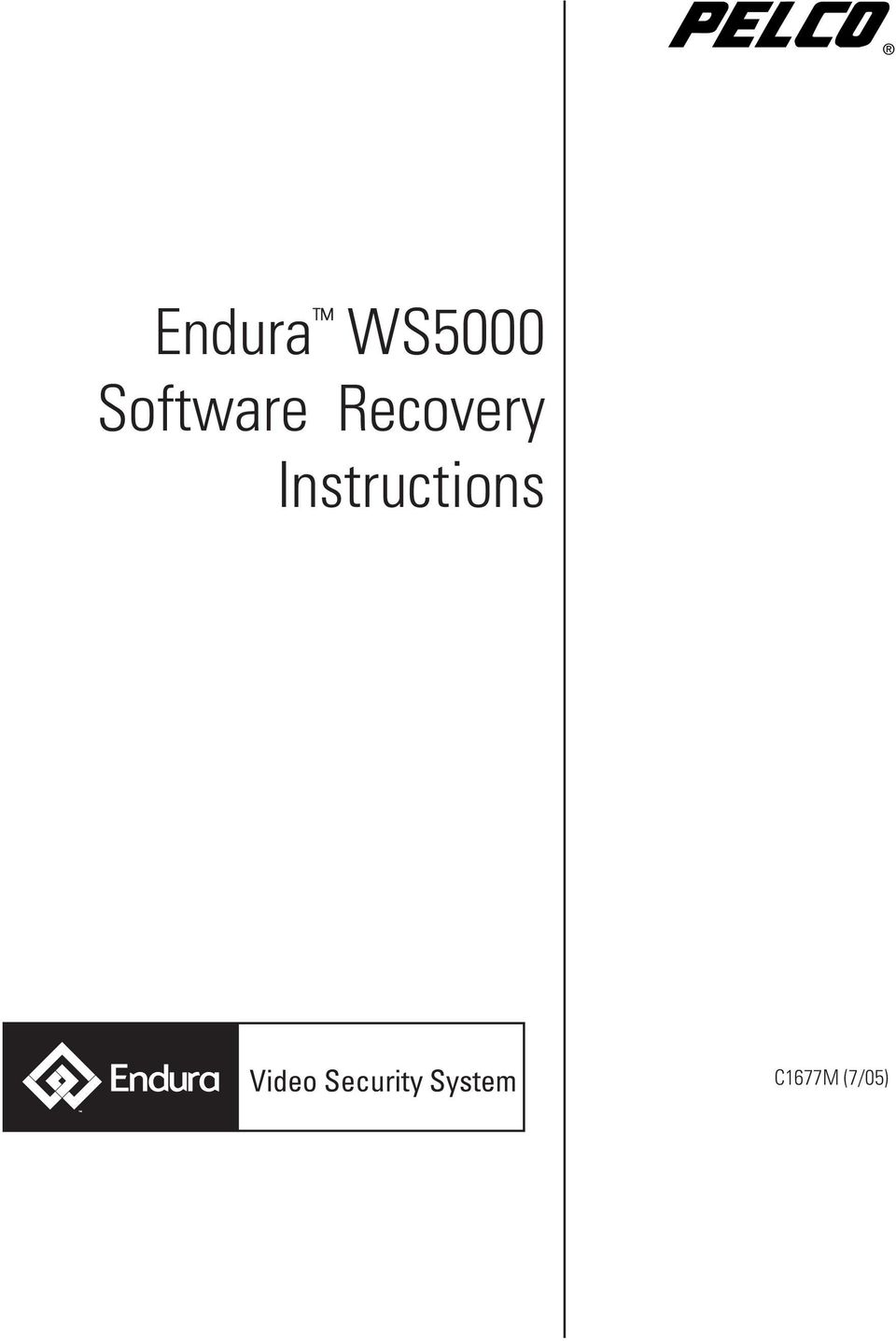 Endura WS5000 Software Recovery Instructions - PDF