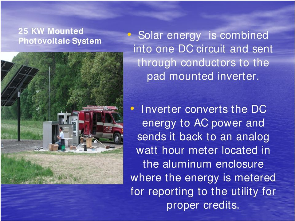25 KW Mounted Photovoltaic System Inverter converts the DC energy e to AC power and