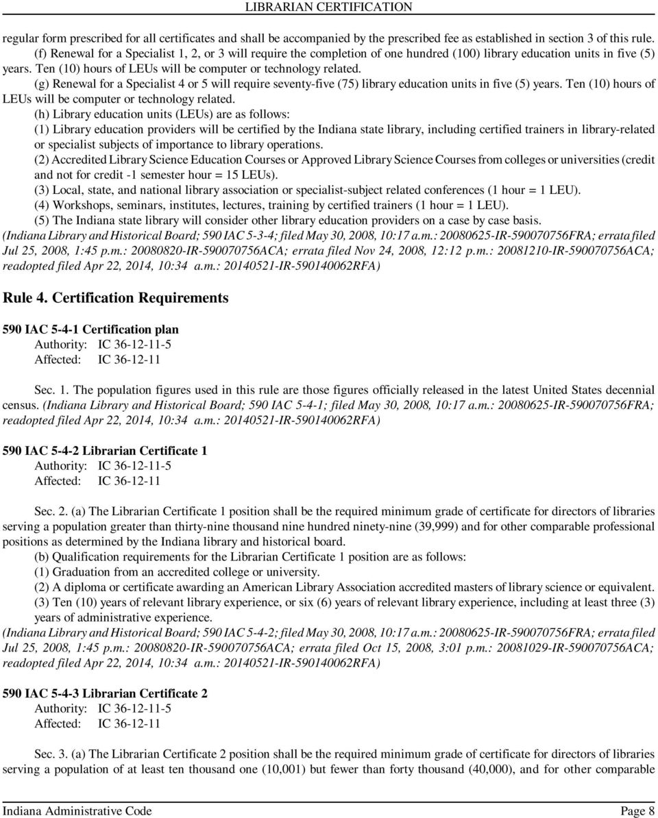 Article 5 Librarian Certification Pdf