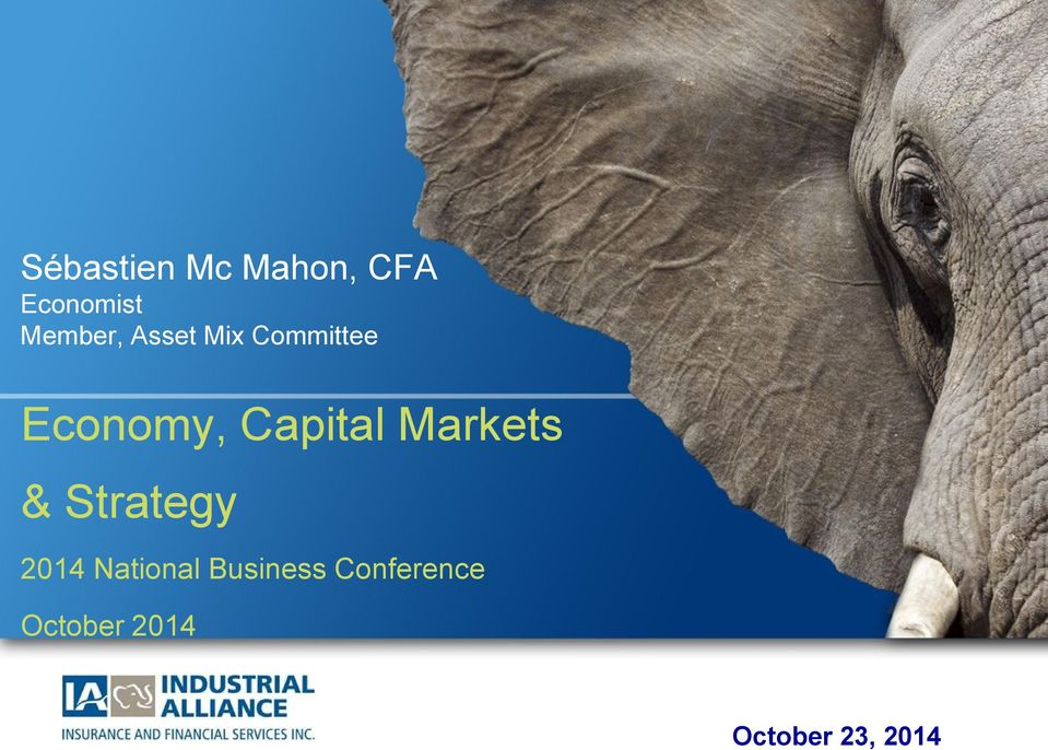 Capital Markets & Strategy 2014 National