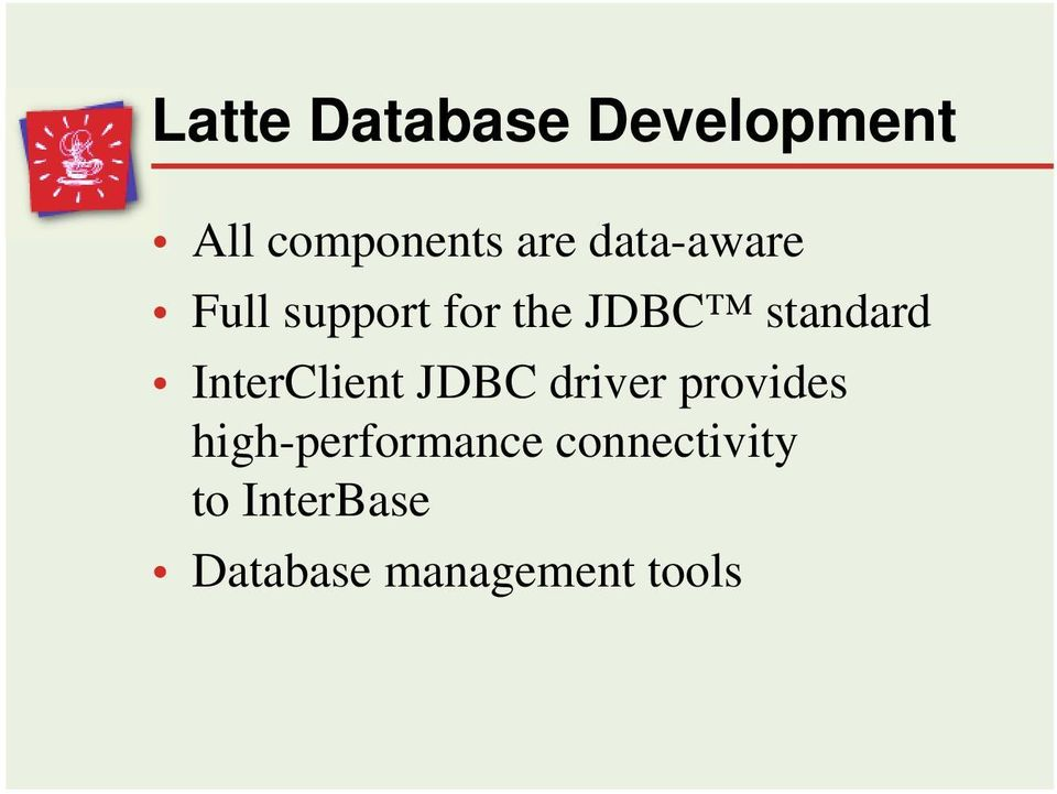 InterClient JDBC driver provides