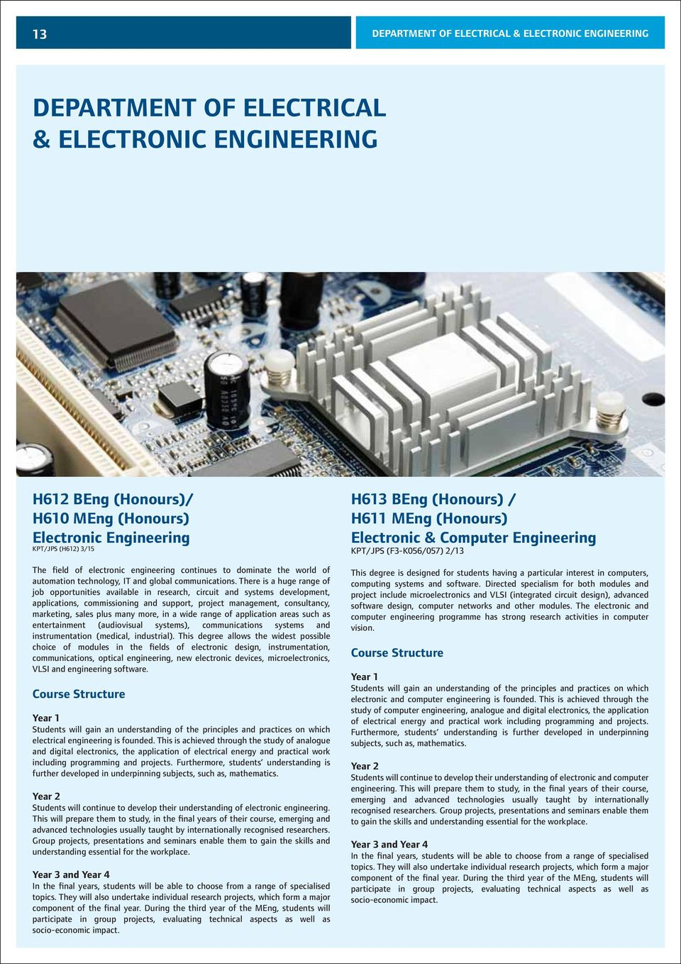 Faculty Of Foundation Undergraduate Programmes Pdf Electronic Engineering Project For Technical Study Digital There Is A Huge Range Job Opportunities Available In Research Circuit And Systems Development 15 Department Electrical