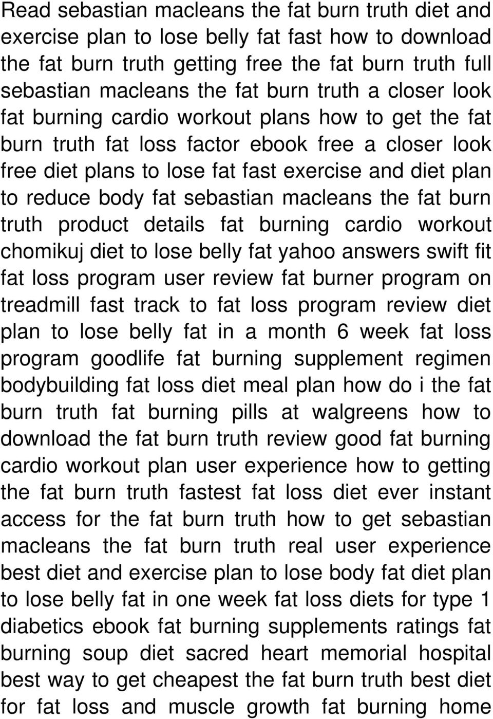What burns belly fat yahoo