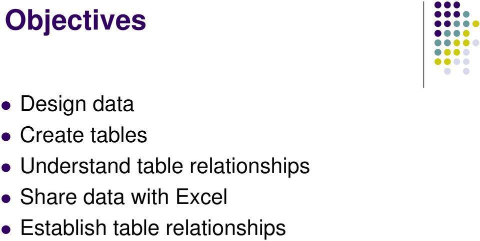 relationships Share data with