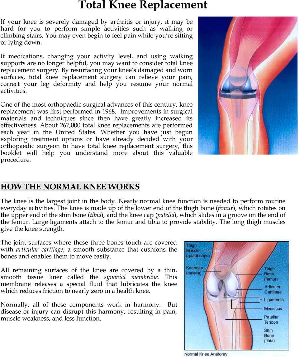 Total Knee Replacement Pdf