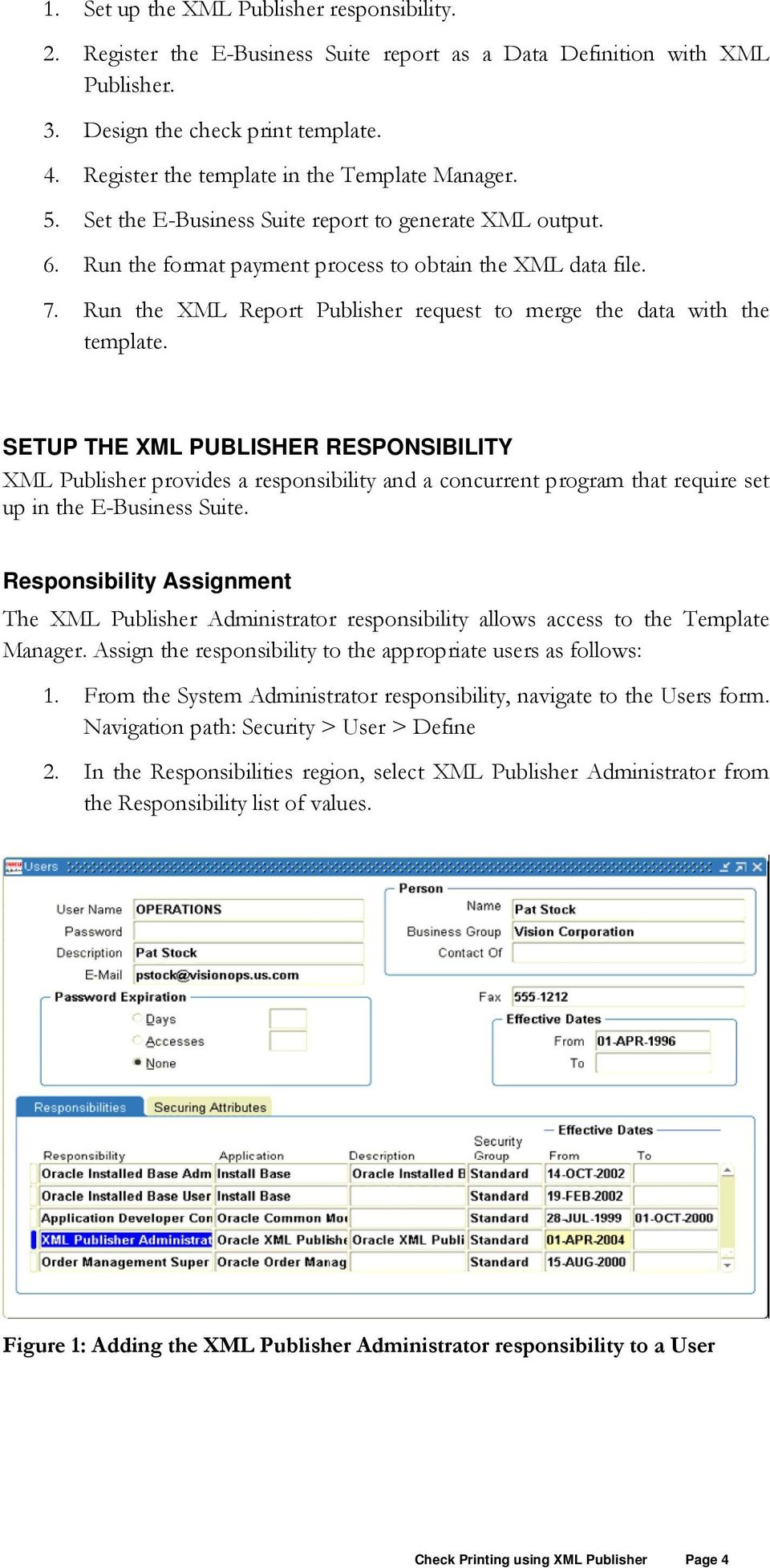 Run the XML Report Publisher request to merge the data with the template.