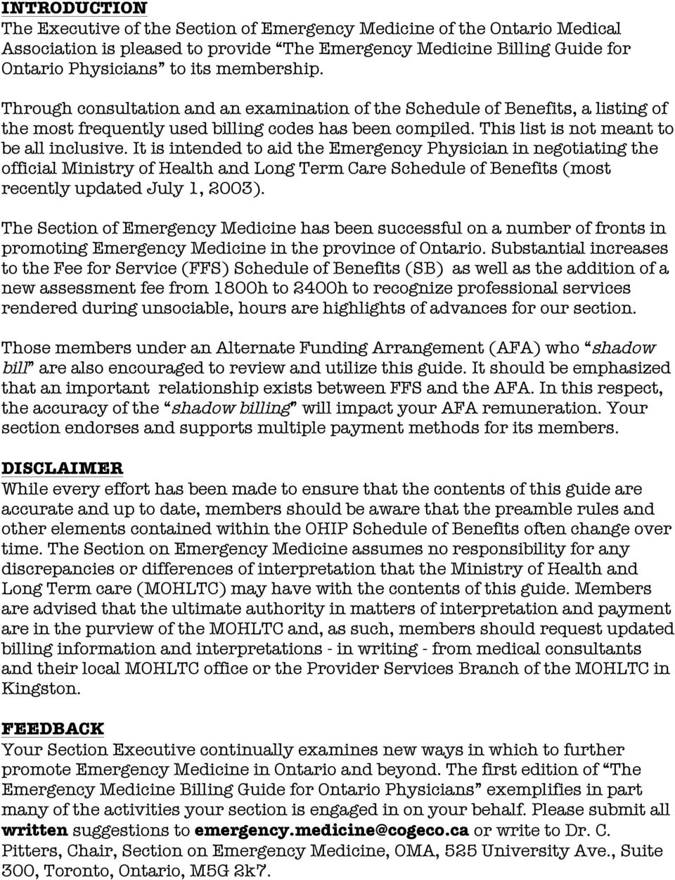 the billing guide for ontario emergency physicians an overview of rh docplayer net