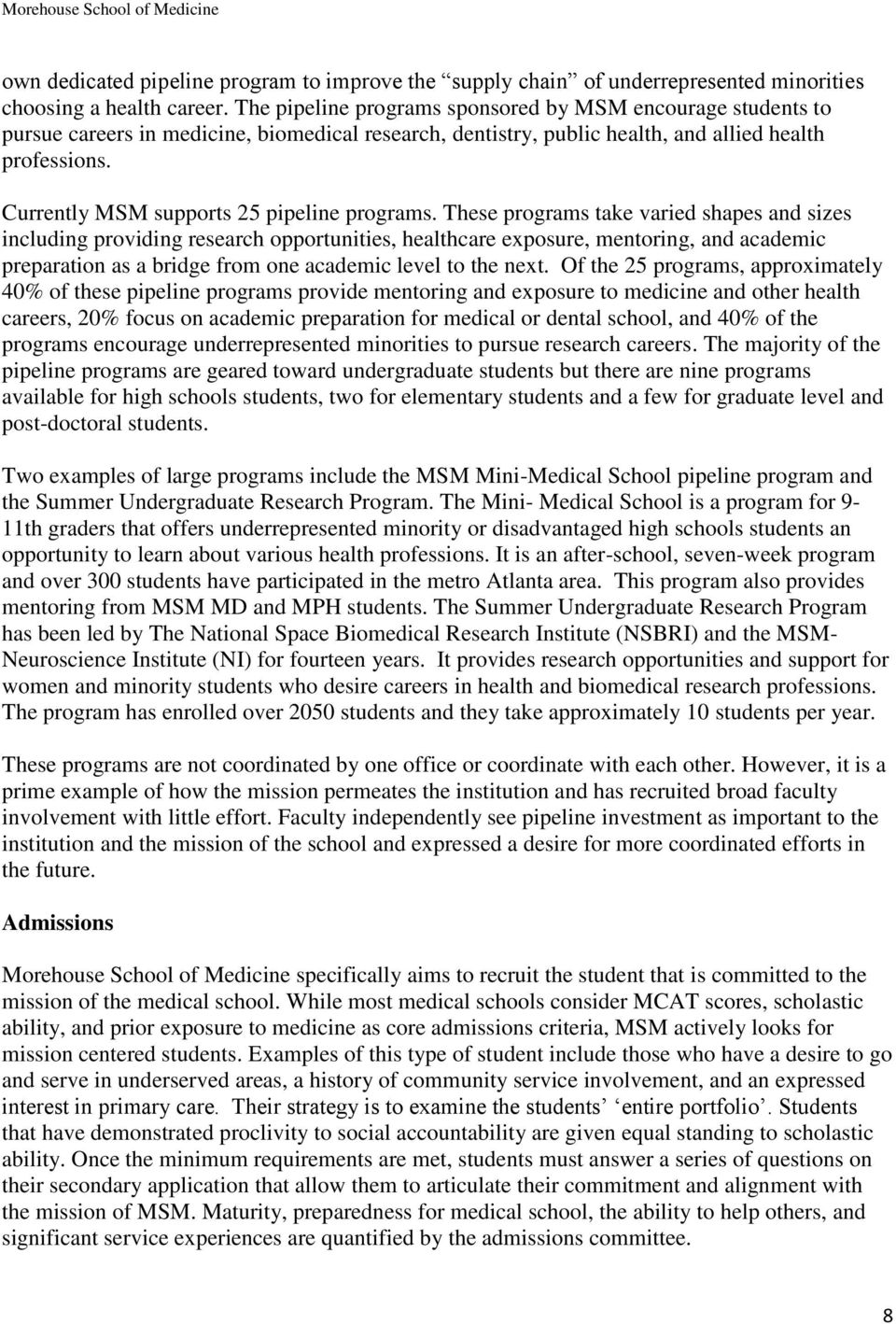 Morehouse School of Medicine - PDF