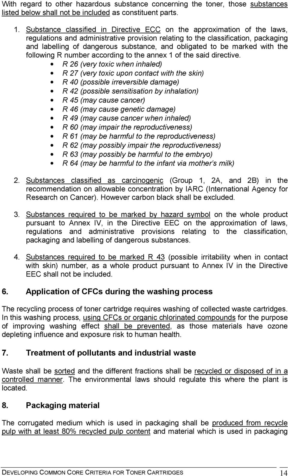 Developing Common Core Criteria for Toner Cartridges - PDF