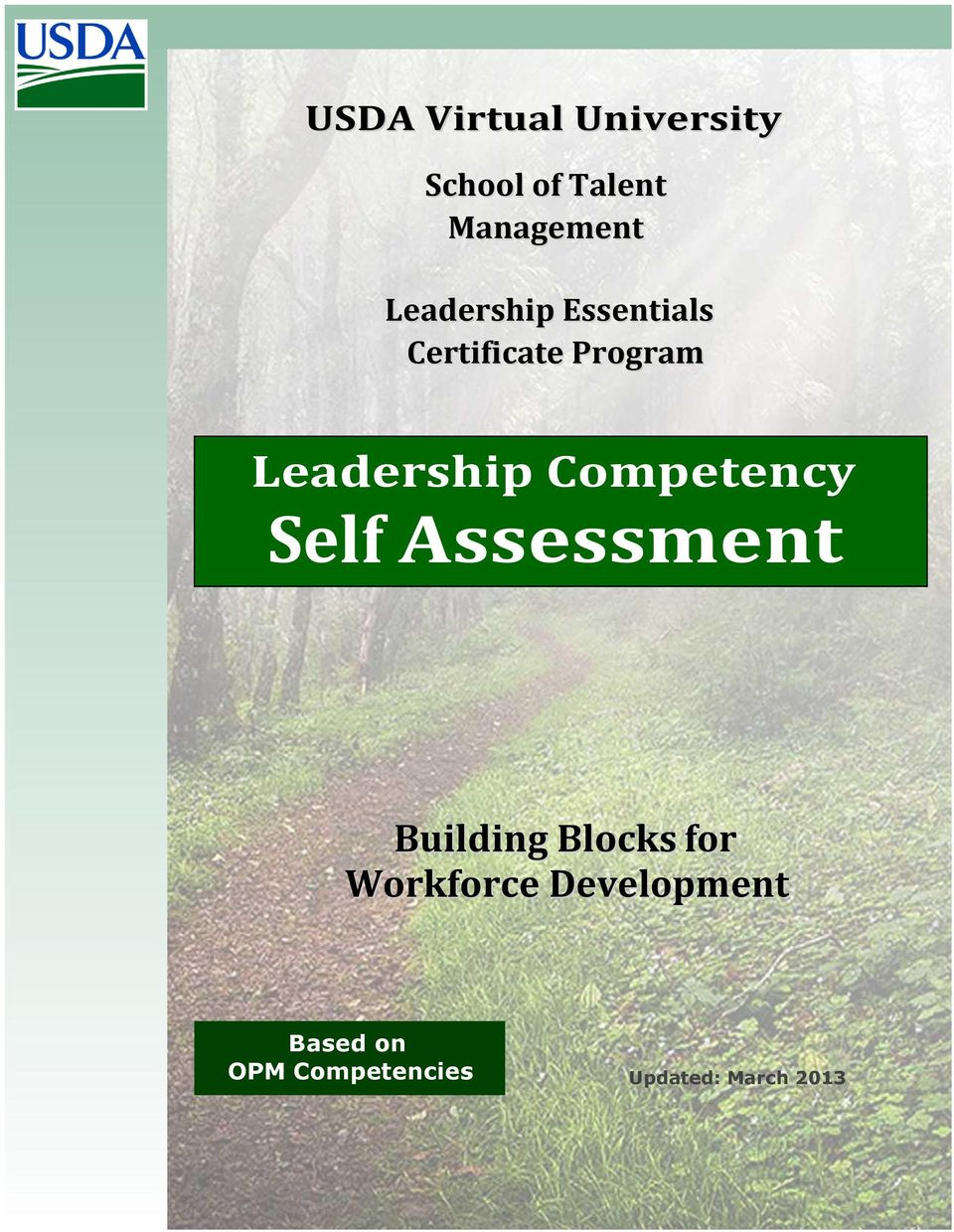 Competency Self Assessment Building Blocks for