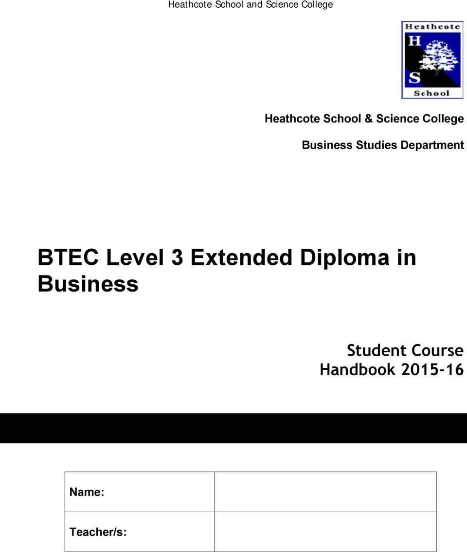 3 Extended Diploma in Business Student