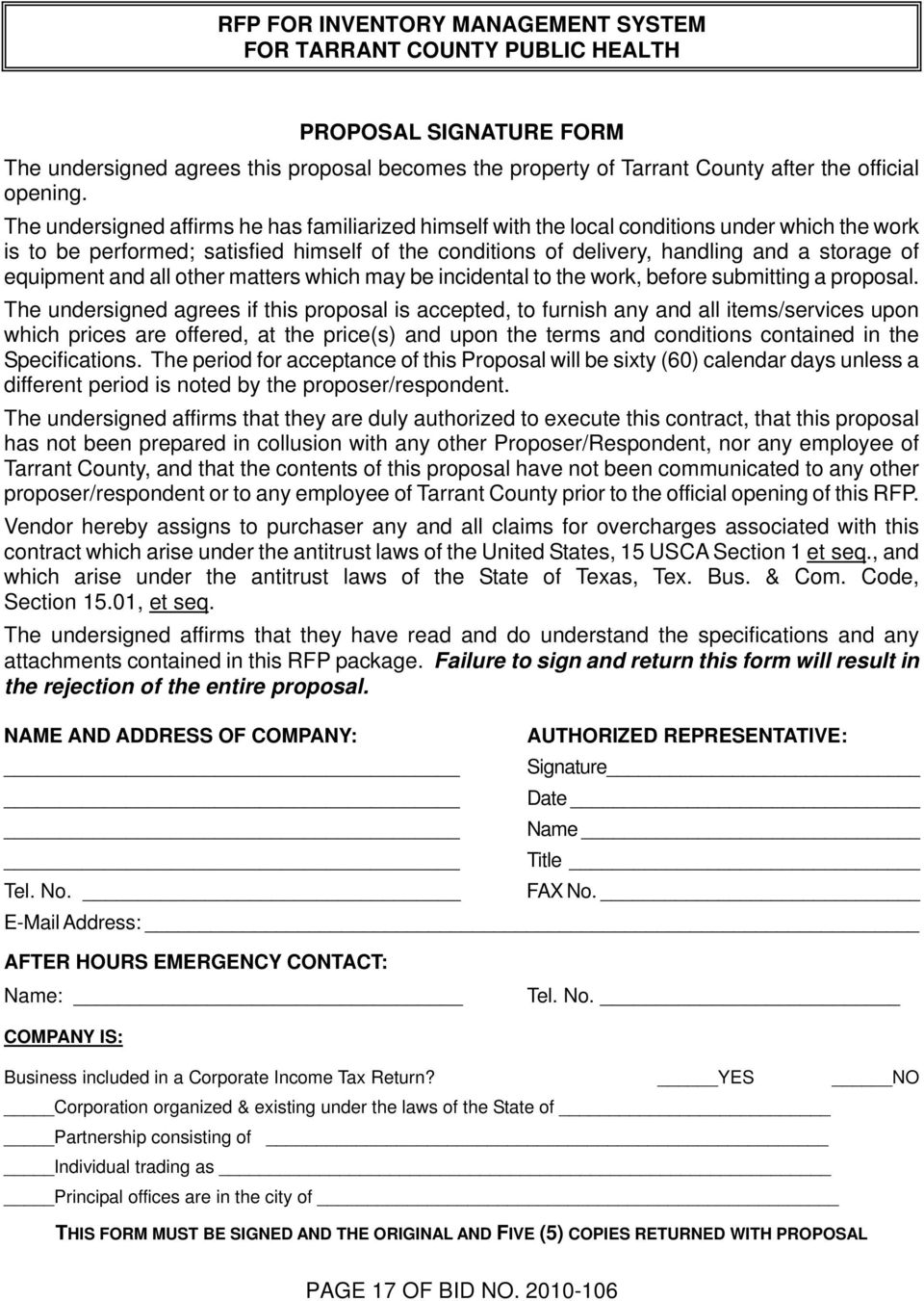 RFP NO REQUEST FOR PROPOSALS FOR INVENTORY MANAGEMENT SYSTEM FOR