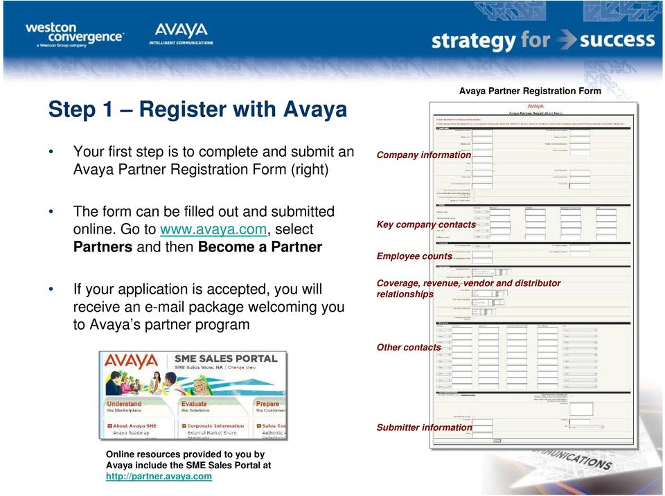 com, select Partners and then Become a Partner If your application is accepted, you will receive an e-mail package welcoming you to Avaya s partner