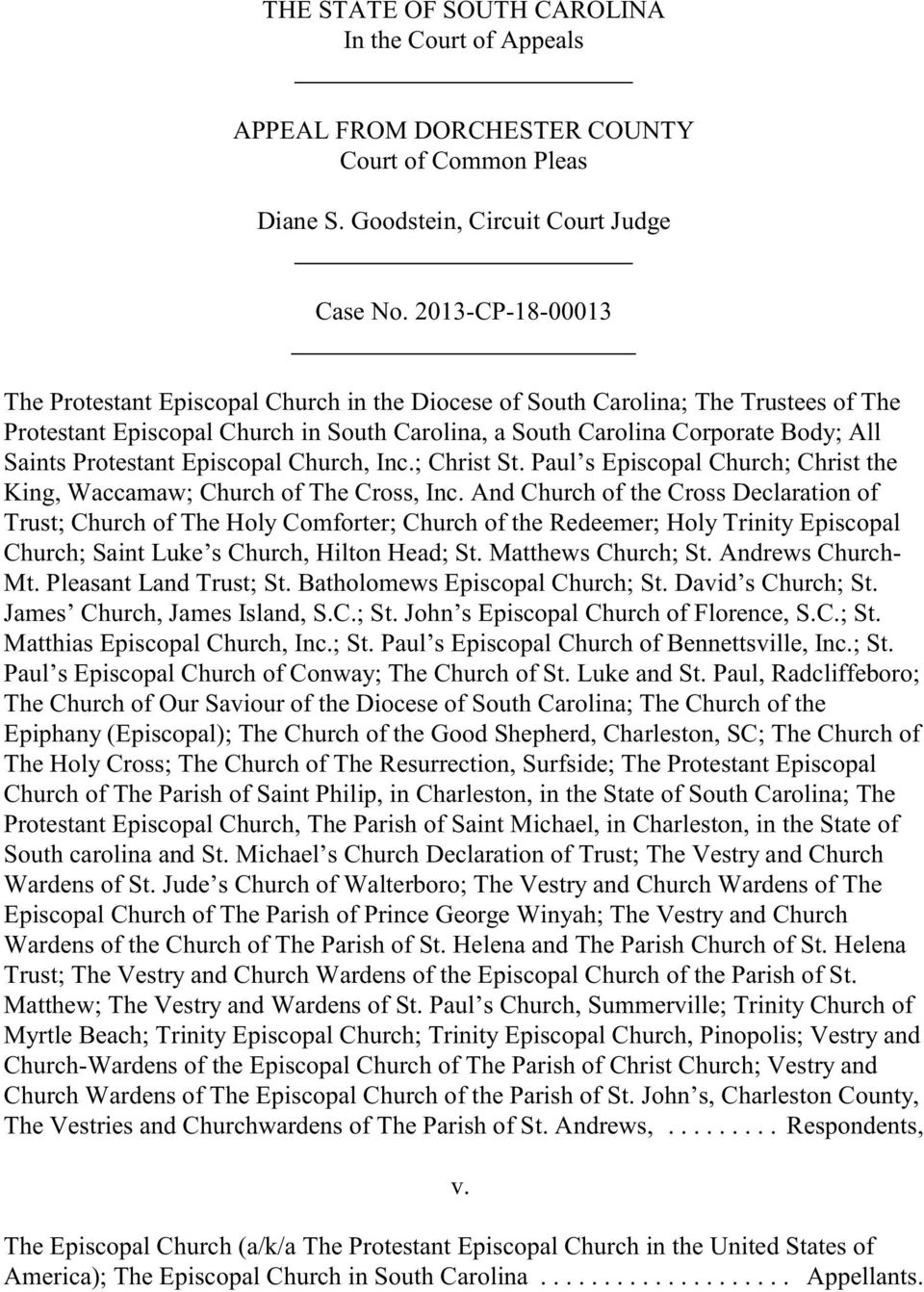 THE STATE OF SOUTH CAROLINA In the Court of Appeals  APPEAL