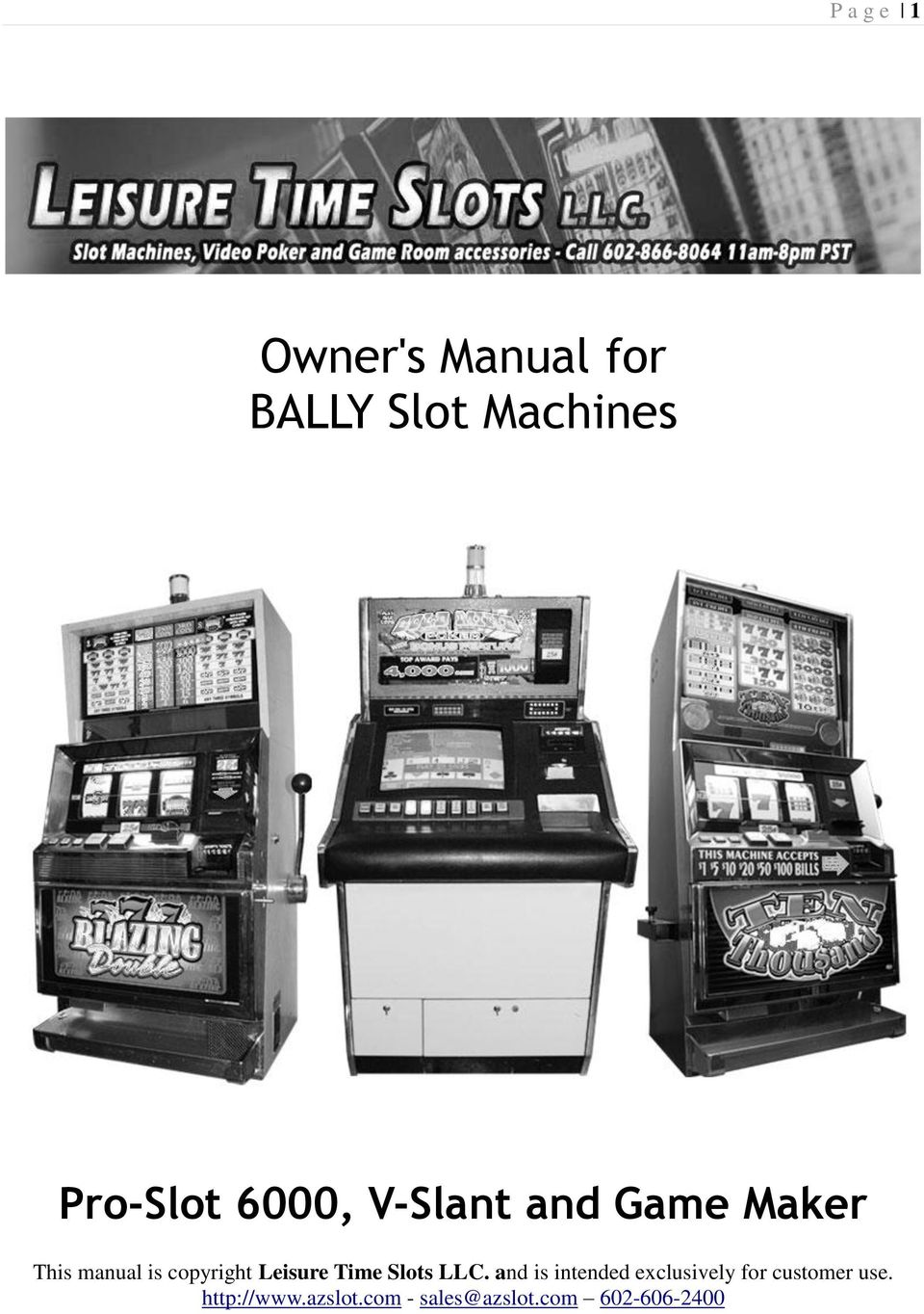 differently crazy price uk availability Owner's Manual for BALLY Slot Machines - PDF Free Download