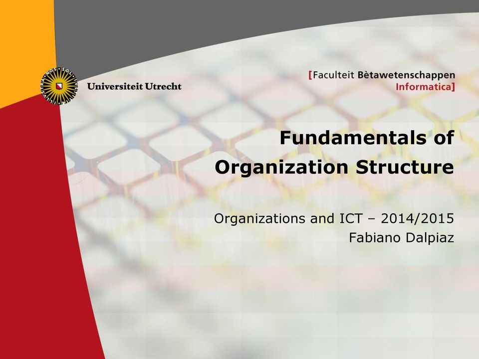 Structure s and ICT