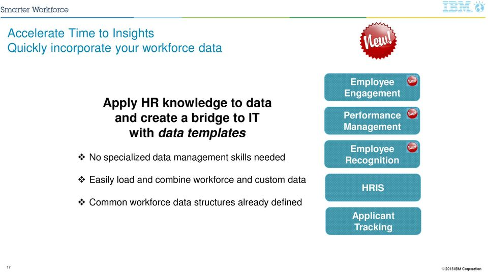needed Easily load and combine workforce and custom data Common workforce data structures