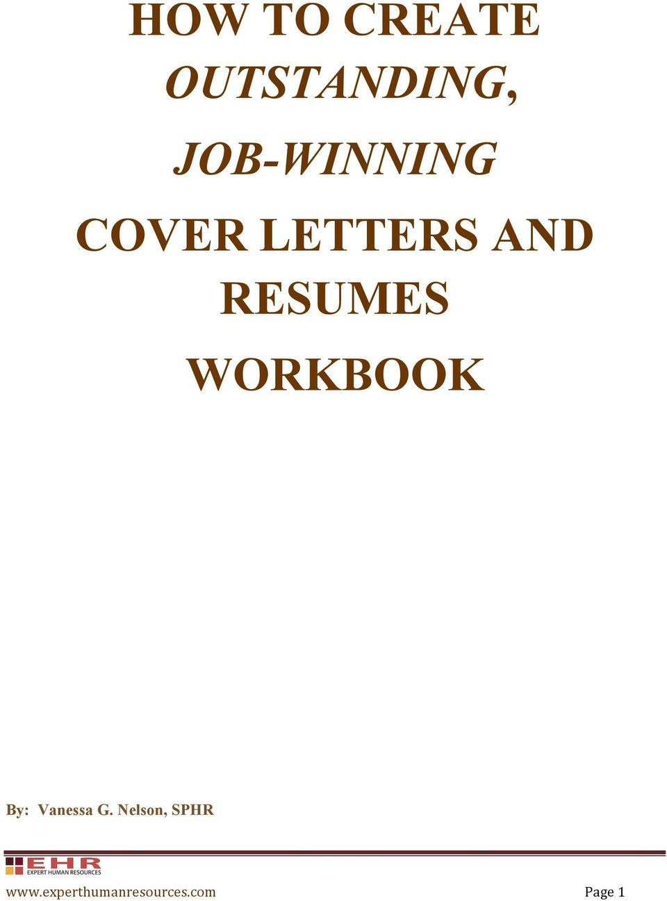 HOW TO CREATE OUTSTANDING, JOB-WINNING COVER LETTERS AND ...