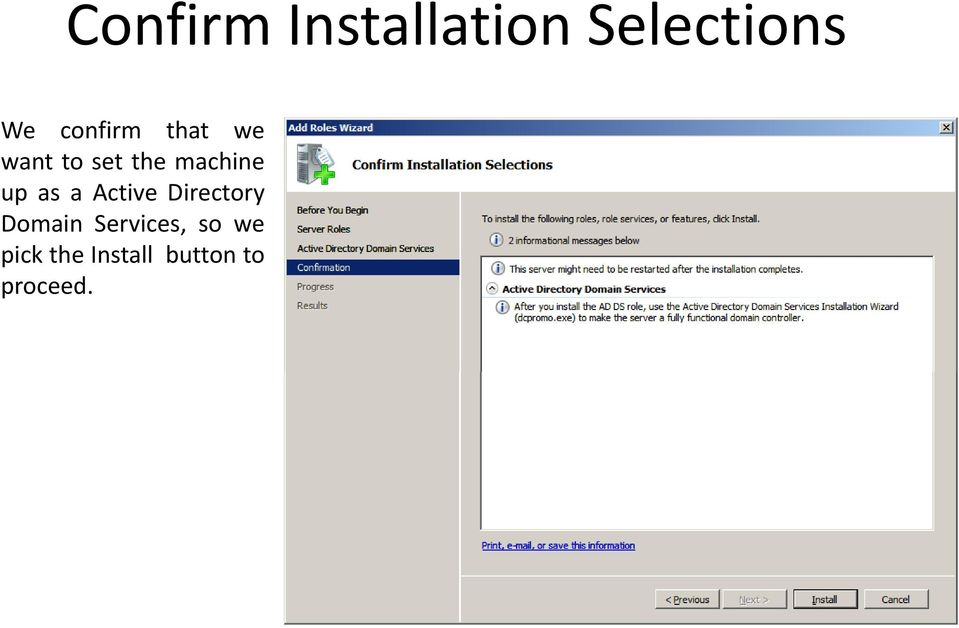 up as a Active Directory Domain