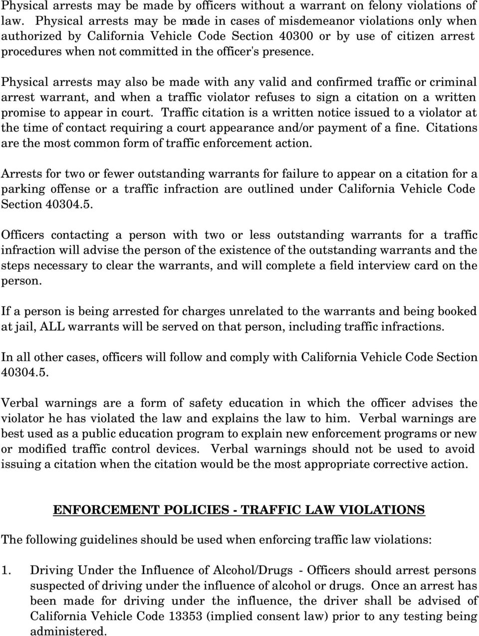 CHAPTER 7 - TRAFFIC AND TRAFFIC ACCIDENT PROCEDURES - PDF