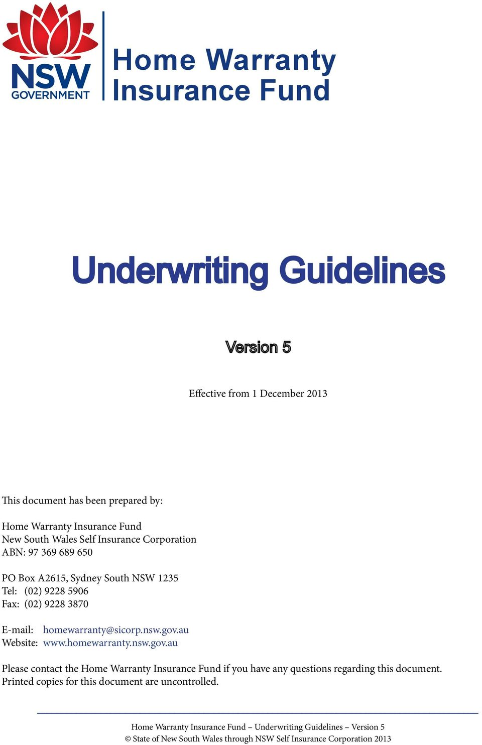 Underwriting Guidelines Pdf Free Download