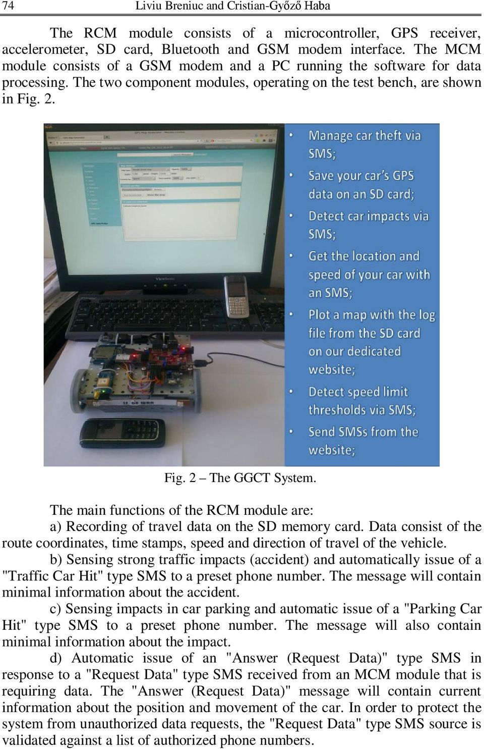 Gps And Gsm System For The Development Of Car Tracking Application Pdf Re Connecting Microcontroller To Modem Via Rs232 Main Functions Rcm Module Are A Recording Travel Data On