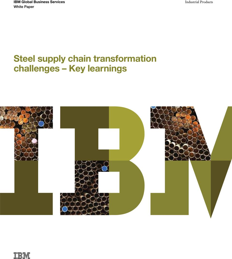 Products Steel supply chain
