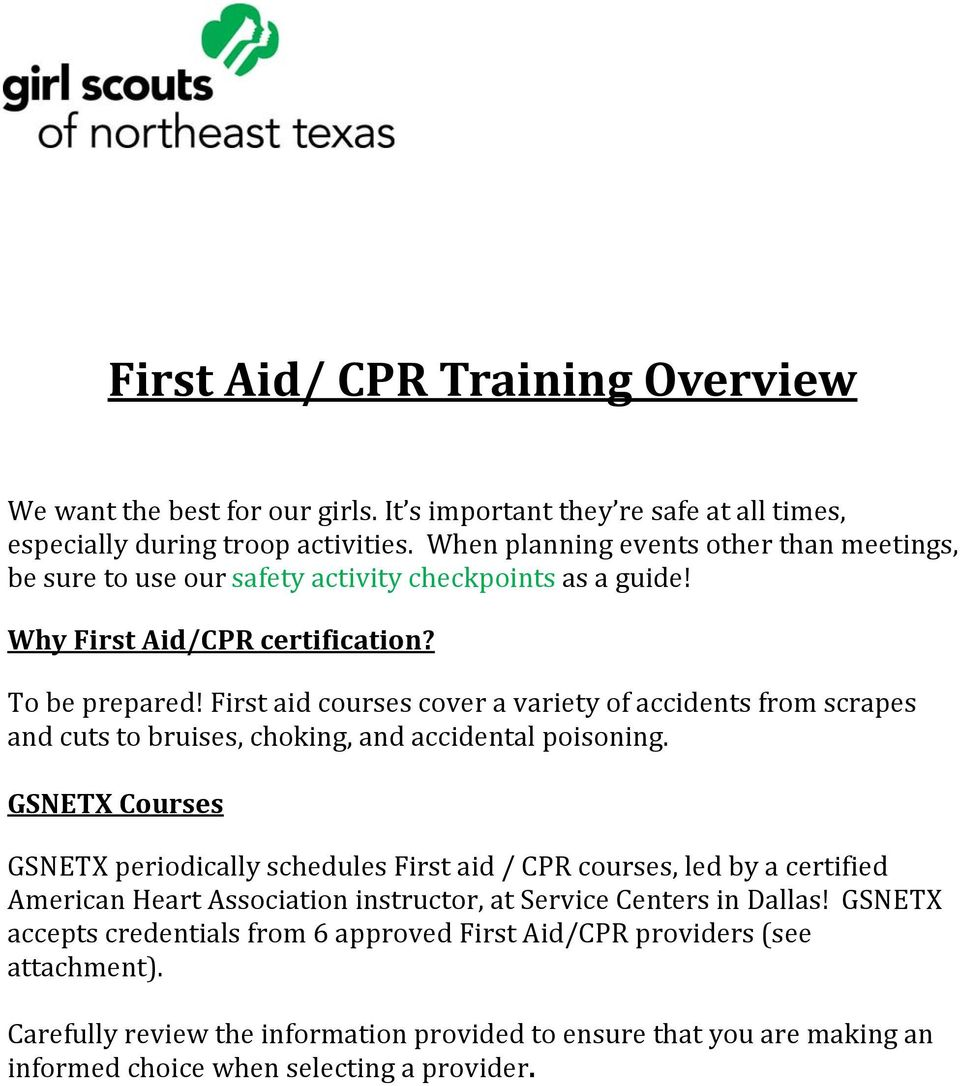 First Aid Cpr Training Overview Pdf