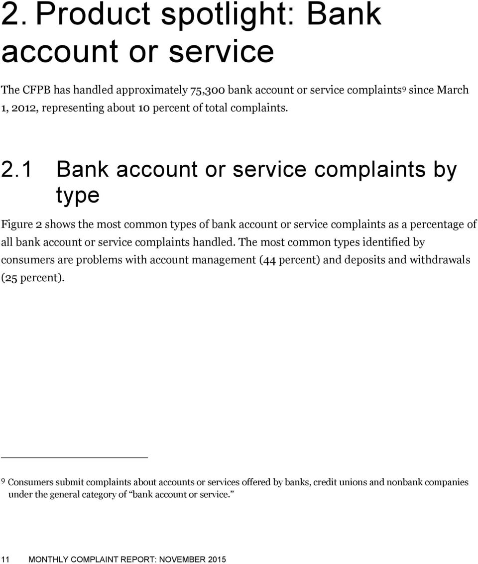 Monthly Complaint Report - PDF