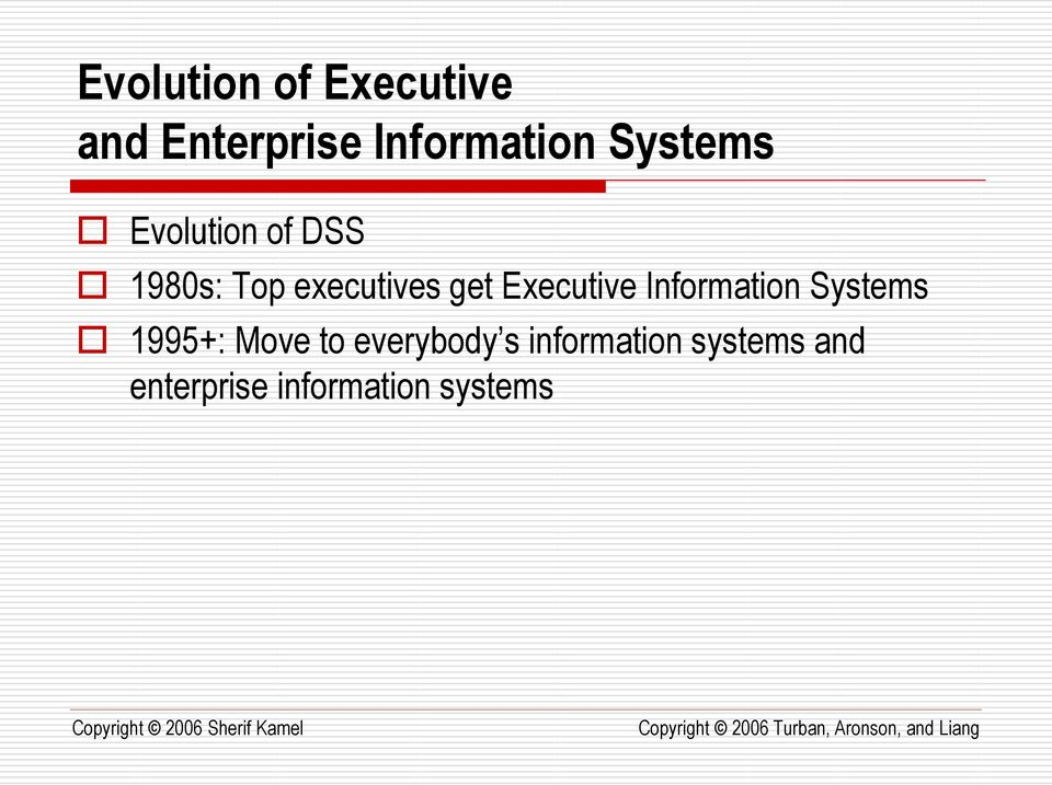Executive Information Systems 1995+: Move to