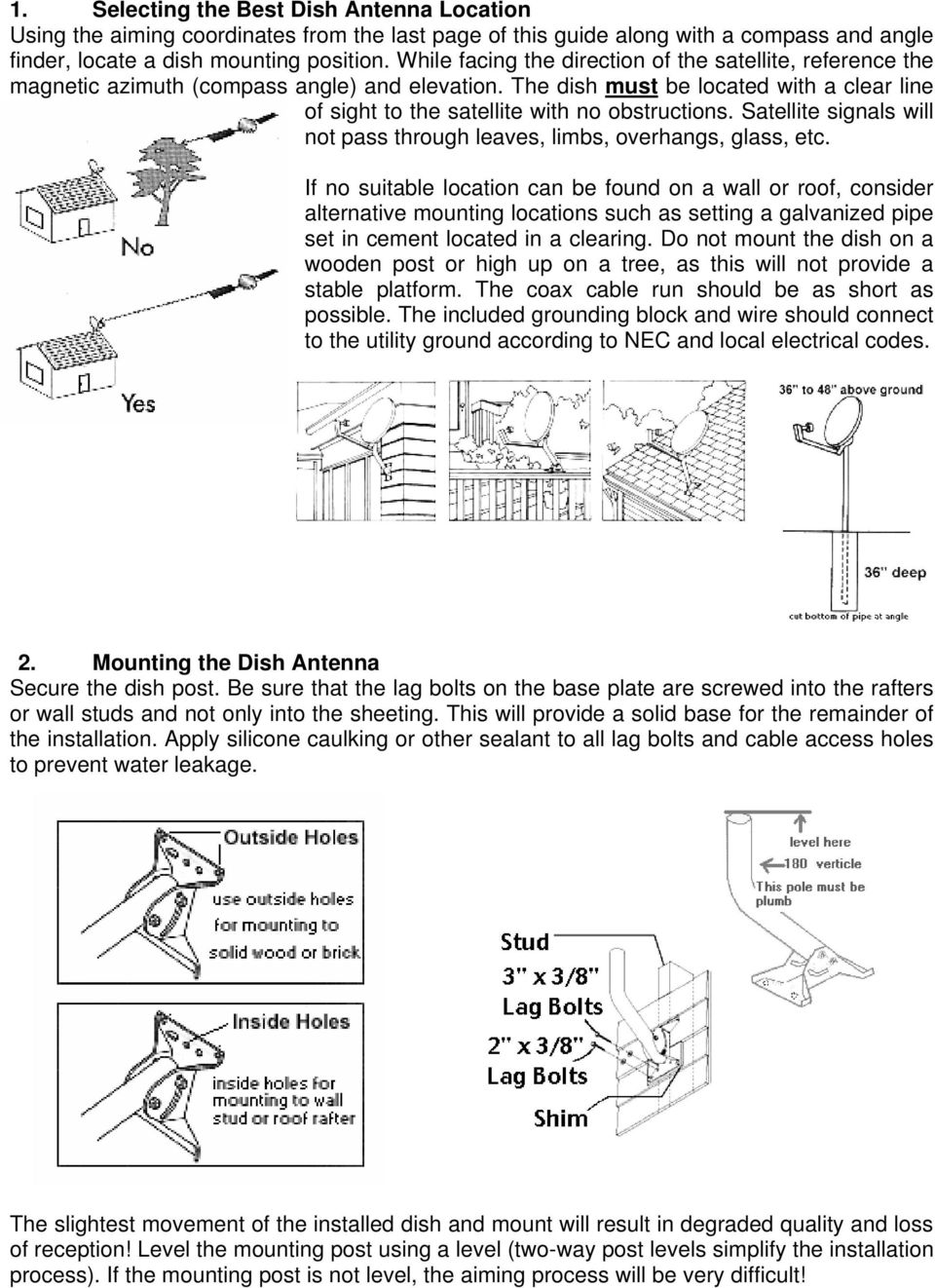 Do It Yourself Guide for Adventist Satellite Installation