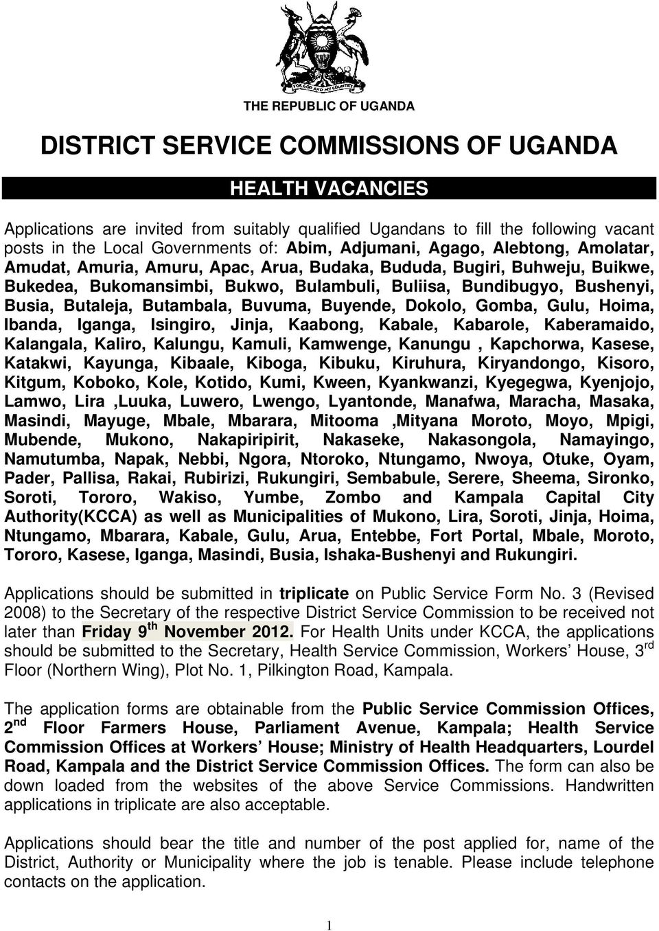 DISTRICT SERVICE COMMISSIONS OF UGANDA - PDF