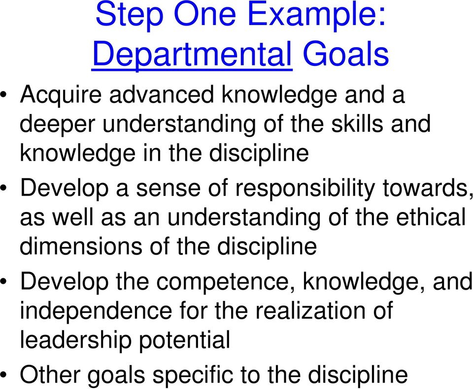 an understanding of the ethical dimensions of the discipline Develop the competence, knowledge,